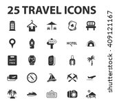 vacation icons set.   | Shutterstock . vector #409121167
