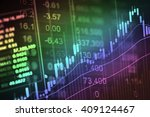 financial data on a monitor.... | Shutterstock . vector #409124467