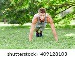 fitness  sport  exercising ... | Shutterstock . vector #409128103