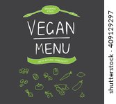 vegan menu | Shutterstock . vector #409129297