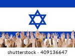 israel country flag liberty... | Shutterstock . vector #409136647