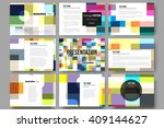 set of 9 vector templates for... | Shutterstock .eps vector #409144627