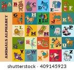 cartoon doodle vector animals... | Shutterstock .eps vector #409145923