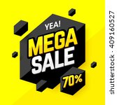 mega sale banner  poster... | Shutterstock .eps vector #409160527