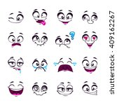 set of funny cartoon vector... | Shutterstock .eps vector #409162267