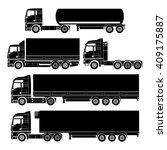vector truck set   Shutterstock .eps vector #409175887