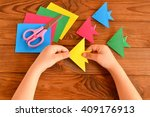 origami colorful fish  paper... | Shutterstock . vector #409176913