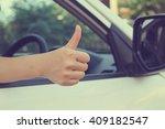 close up working woman hand... | Shutterstock . vector #409182547