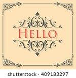 hello lettering | Shutterstock .eps vector #409183297