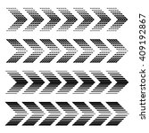 vector arrow strip black symbols | Shutterstock .eps vector #409192867