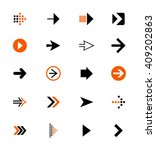 arrow icons  vector   Shutterstock .eps vector #409202863