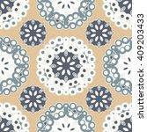 vector abstract seamless... | Shutterstock .eps vector #409203433
