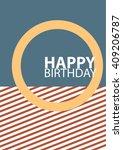 happy birthday card vector.   Shutterstock .eps vector #409206787