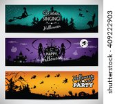 banners for halloween.... | Shutterstock . vector #409222903