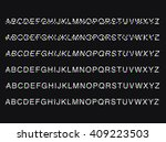 modern custom glitch distortion ... | Shutterstock .eps vector #409223503