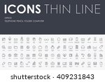 office thin line icons | Shutterstock .eps vector #409231843
