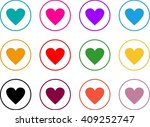 heart icon in circle vector... | Shutterstock .eps vector #409252747
