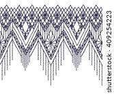 isolated crocheted lace border... | Shutterstock .eps vector #409254223