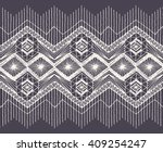 isolated crocheted lace border... | Shutterstock .eps vector #409254247