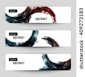 banner set with abstract...   Shutterstock .eps vector #409273183