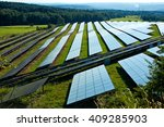 solar power plant on a... | Shutterstock . vector #409285903