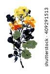 hand drawn abstract autumn herbs   Shutterstock . vector #409291513