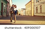 young happy beautiful couple in ...   Shutterstock . vector #409300507