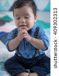 adorable mixed race 11 month...   Shutterstock . vector #409302313