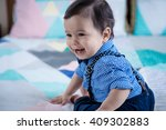 adorable 11 month old mixed...   Shutterstock . vector #409302883