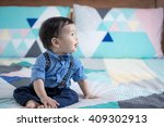 adorable 11 month old mixed...   Shutterstock . vector #409302913