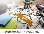 art creative imagination... | Shutterstock . vector #409323787
