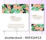 vintage delicate invitation... | Shutterstock .eps vector #409326913