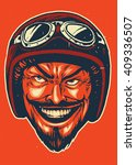 hand drawing of devil wearing...   Shutterstock .eps vector #409336507