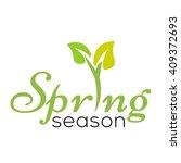 spring logo template    Shutterstock .eps vector #409372693