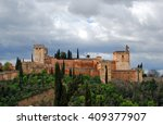 view of the famous alhambra... | Shutterstock . vector #409377907