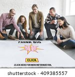 think big positive thinking... | Shutterstock . vector #409385557