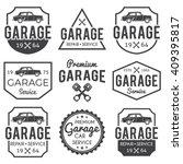garage badge label set. car... | Shutterstock .eps vector #409395817