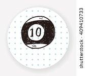 doodle billiards | Shutterstock .eps vector #409410733