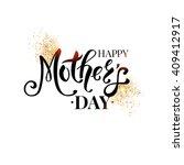 elegant black and white mothers ...   Shutterstock .eps vector #409412917