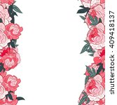 Pink Peony Floral Border....