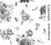 Stock photo seamless watercolor flower pattern 409419073