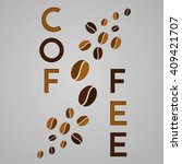 coffee beans illustration. | Shutterstock . vector #409421707
