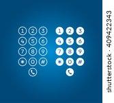 user interface keypad for phone   Shutterstock .eps vector #409422343