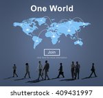 one world peace connection... | Shutterstock . vector #409431997