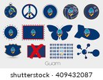 many different styles of flag... | Shutterstock . vector #409432087
