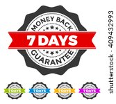 7 days money back guarantee... | Shutterstock .eps vector #409432993
