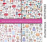 vector set with seamless hand... | Shutterstock .eps vector #409439683