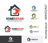 home repair logo template with... | Shutterstock .eps vector #409452967