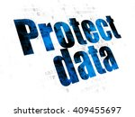 safety concept  pixelated blue... | Shutterstock . vector #409455697
