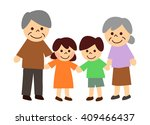 grandparents and grandchildren | Shutterstock . vector #409466437